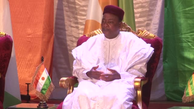 president mahamadou issoufou of niger proposes setting up a multinational west african force to fight terrorism - mahamadou issoufou stock videos and b-roll footage