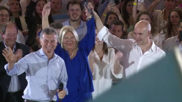 president mauricio macri called upon argentinians tuesday during a end of campaign rally in buenos aires to support his government in the legislative... - mauricio macri stock videos and b-roll footage