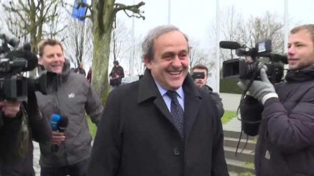 vídeos y material grabado en eventos de stock de president michel platini on wednesday made a formal appeal against his six year ban from football at the court of arbitration for sport the tribunal... - queja