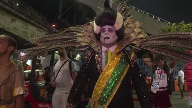 president michel temer as dracula crooked politicians and a scarecrow in effigy of rio de janeiro's mayor set the tone for this week's unusually... - vlad tepes stock videos & royalty-free footage