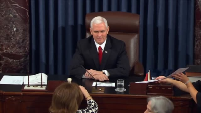 President Mike Pence was called and twice to break 5050 ties on invoking cloture and five hours later to pass a joint resolution reversing a rule...