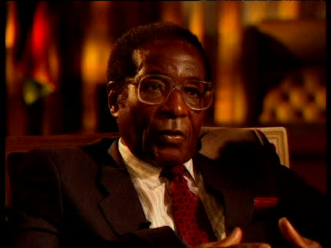 President Mugabe emphasizes his stance on his land polices and white farmers 1990s
