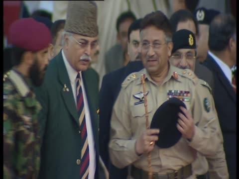 president musharraf in military uniform - military uniform stock videos and b-roll footage