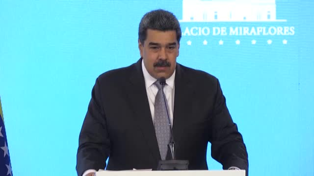 president nicolas maduro announces that venezuela is set to begin its vaccination campaign with the arrival of the first 100,000 doses of russia's... - sputnik stock videos & royalty-free footage