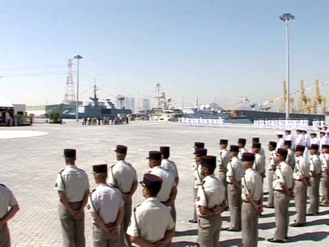 president nicolas sarkozy formally opened a french military base in the united arab emirates on tuesday, its first in the oil-rich gulf, as paris... - military base stock videos & royalty-free footage