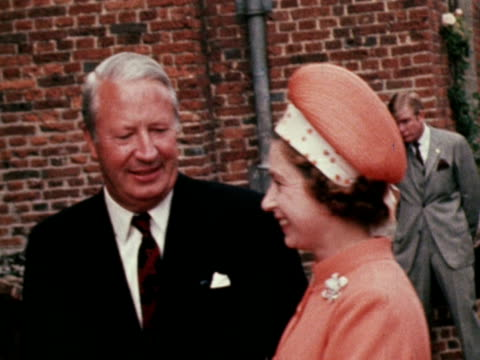 president nixon meets the queen and prime minister edward heath at chequers - prime minister stock videos & royalty-free footage
