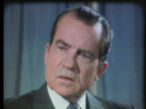 president nixon speaks about his family's support of his decisions - united states and (politics or government) stock videos & royalty-free footage