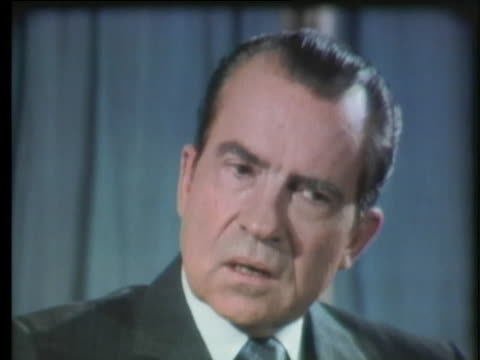 president nixon speaks about his return to public office and the attributes of first lady pat nixon. - united states and (politics or government) stock videos & royalty-free footage