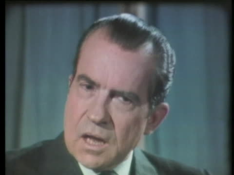 president nixon speaks about the attributes of first lady pat nixon. - first lady stock videos & royalty-free footage