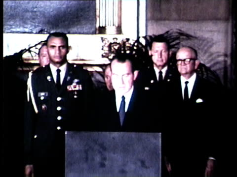 wgn president nixon speaks at funeral of illinois senator dirksen in in the washington dc capitol building in september 1969 - senator stock videos & royalty-free footage