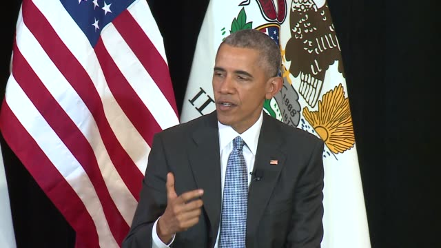 wgn president obama explains the political situation around merrick garland supreme court nominee on april 7 2016 - oberster gerichtshof stock-videos und b-roll-filmmaterial