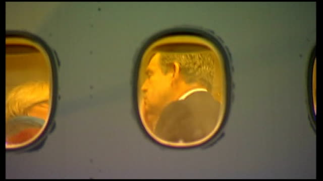 president obama meets prime minister gordon brown andrew's airforce base gordon brown seen having hair brushed and makeup applied through window of... - gordon brown stock videos & royalty-free footage