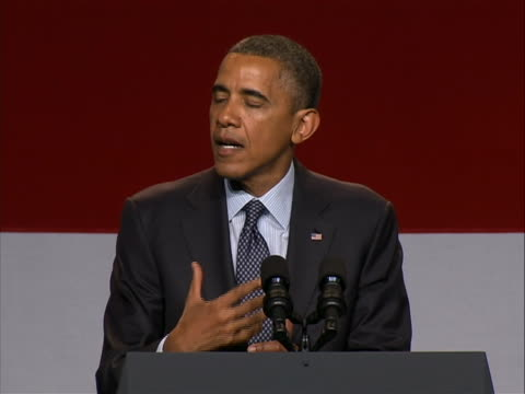 """president obama talks about """"don't ask, don't tell"""" at the lgbt leadership counsel gala in los angeles, california. - 2012 stock videos & royalty-free footage"""