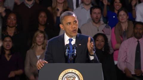 stockvideo's en b-roll-footage met president obama victory speech. - 2012