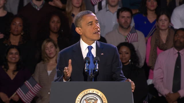 president obama victory speech. - 2012 stock videos & royalty-free footage