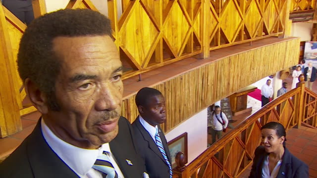 President of Botswana Ian Khama saying countries are setting a 'wonderful example' banning the sale of antique Ivory items