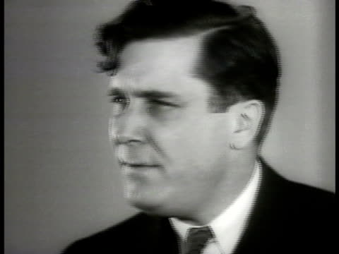 vidéos et rushes de president of commonwealth amp southern power company wendell willkie speaking out against tva 'tva intends to invade our market duplicate our system'... - 1936