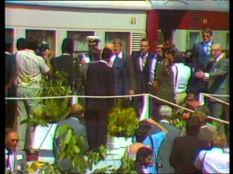 president of mozambique samora machel and south african prime minister pieter botha meet and shake hands for first time 1980s - occurrence stock videos and b-roll footage