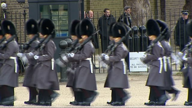 ceremonial welcome on horse guards parade england london horse guards parade ext * * military band music heard during the following shots sot * *... - horse guards parade stock videos and b-roll footage