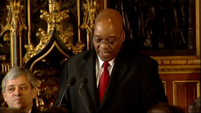 vídeos y material grabado en eventos de stock de jacob zuma speech to mps england london int jacob zuma speech sot i feel greatly privileged to address members of parliament during our state visit... - eco tourism