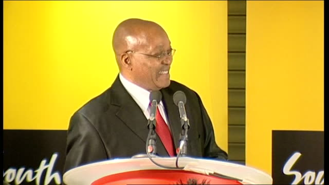 president of south africa visits wembley stadium during day two of state visit; zuma press conference sot - we are thrilled to be here this afternoon... - international team soccer stock videos & royalty-free footage