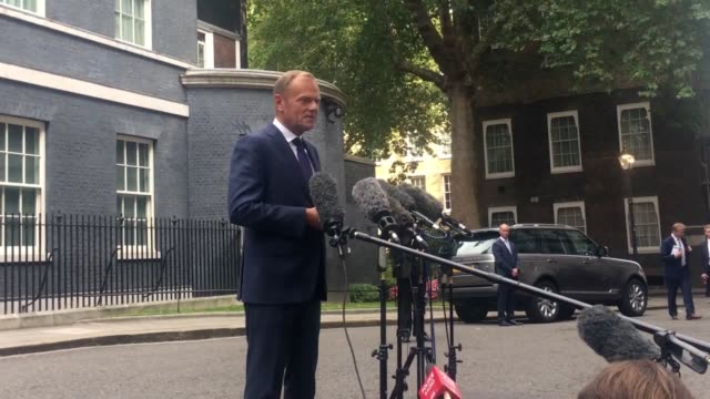 President of the European Council Donald Tusk on Brexit after talks with Prime Minister Theresa May at Downing Street He says he is 'cautiously...