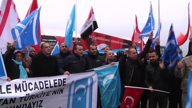 president of the iraqi turkmen front arshad alsalihi and iraqi turkmens pay tribute to the victims of the twin attacks at the site of the terror... - besiktas stock videos and b-roll footage