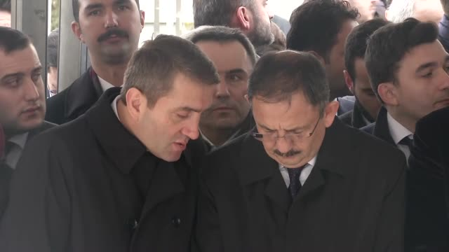 president of turkey recep tayyip erdogan and prime minister of turkey ahmet davutoglu attend a funeral held at the mosque of marmara university... - marmara stock videos and b-roll footage