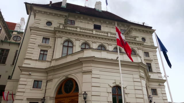 president office austria - the hofburg complex stock videos & royalty-free footage