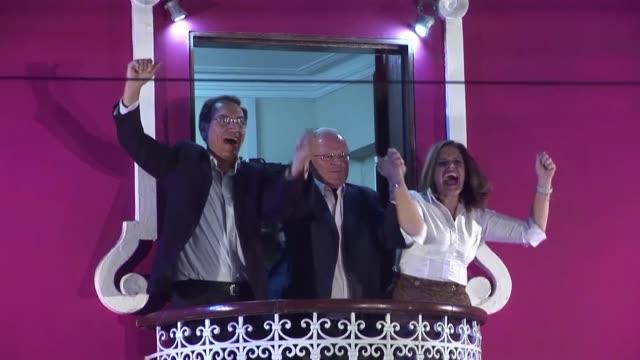 president pedro pablo kuczynski's vice presidents martin vizcarra and mercedes araoz - martín vizcarra stock videos & royalty-free footage