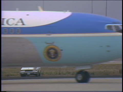 president reagan arrives via air force one with nancy reagan and departs on marine one - military helicopter stock videos & royalty-free footage
