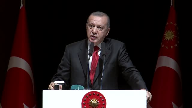 """president recep tayyip erdogan reiterated on friday his determination to honor all bilateral and multilateral military alliances. """"turkey is a... - recep tayyip erdoğan stock videos & royalty-free footage"""