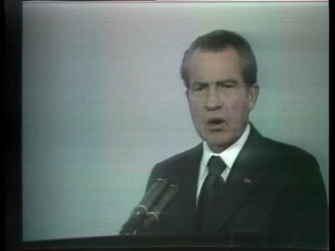 stockvideo's en b-roll-footage met us president richard m nixon comments on the atlantic alliance and its role in keeping peace throughout europe - (war or terrorism or election or government or illness or news event or speech or politics or politician or conflict or military or extreme weather or business or economy) and not usa