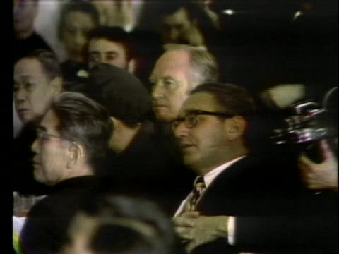 stockvideo's en b-roll-footage met president richard m nixon speaks at a farewell banquet in peking's industrial hall commenting on the importance of his week in china - united states and (politics or government)