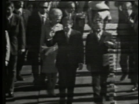 president richard nixon and first lady pat nixon walk with the shah during a visit to iran. - first lady stock videos & royalty-free footage