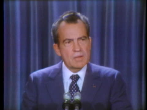 president richard nixon discusses us vice president spiro agnew's decision not to resign if indicted. - resignation of richard nixon stock videos & royalty-free footage