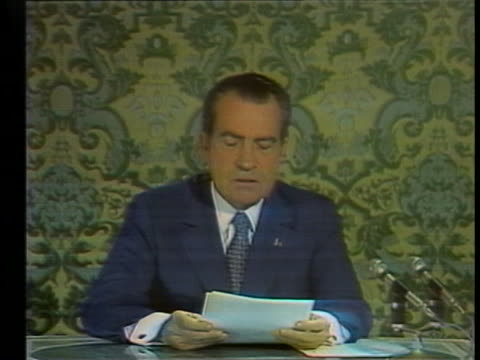 president richard nixon gives his first televised speech to the soviet people from the kremlin, saying that the united states and soviet union should... - new age stock videos & royalty-free footage
