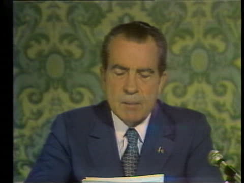 president richard nixon gives his first televised speech to the soviet people from the kremlin, saying that the us seeks no one else's territory and... - business or economy or employment and labor or financial market or finance or agriculture stock videos & royalty-free footage