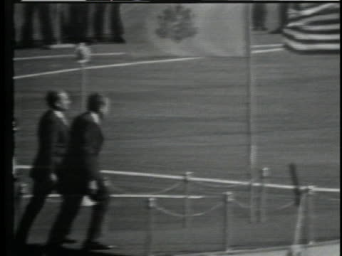 president richard nixon greets the shah of iran in front of the iranian military. - (war or terrorism or election or government or illness or news event or speech or politics or politician or conflict or military or extreme weather or business or economy) and not usa stock videos & royalty-free footage