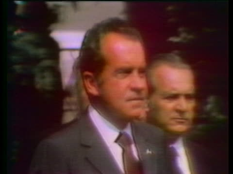 president richard nixon lays a wreath at the kremlin's world war ii memorial. - world war ii stock-videos und b-roll-filmmaterial