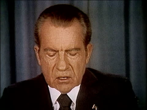 president richard nixon speaking about releasing the watergate tapes. nixon releases watergate tapes - part 3 of 10 on april 29, 1974 in washington,... - richard nixon stock videos & royalty-free footage