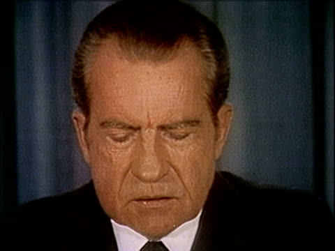 president richard nixon speaking about releasing the watergate tapes nixon releases watergate tapes part 10 of 10 on april 29 1974 in washington dc - 1974 stock-videos und b-roll-filmmaterial