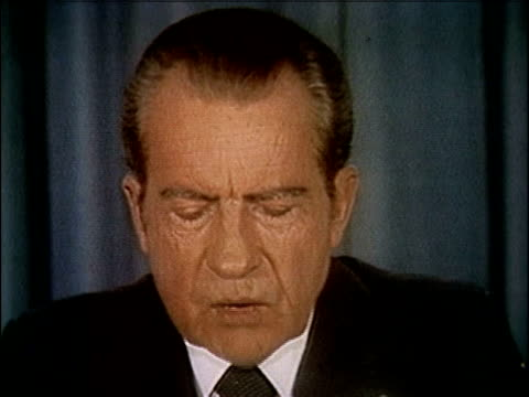 president richard nixon speaking about releasing the watergate tapes nixon releases watergate tapes part 8 of 10 on april 29 1974 in washington dc - watergate scandal stock videos & royalty-free footage