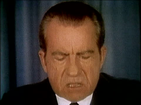 president richard nixon speaking about releasing the watergate tapes nixon releases watergate tapes part 9 of 10 on april 29 1974 in washington dc - 1974 stock-videos und b-roll-filmmaterial