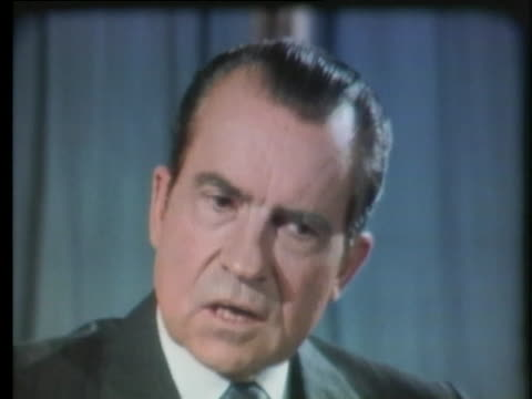 president richard nixon speaks about insecurity as a fundamental cause of problems in the united states and the war in vietnam. - united states and (politics or government) stock videos & royalty-free footage