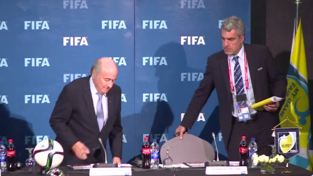 fifa president sepp blatter said friday a report into alleged corruption surrounding the bids for the 2018 and 2022 world cups would be released but... - surrounding stock videos and b-roll footage