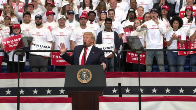 president trump campaigns for kentucky republicans november 4 2019 trump_ while we are creating jobs and killing terrorists the radical democrats are... - united states presidential election stock videos & royalty-free footage