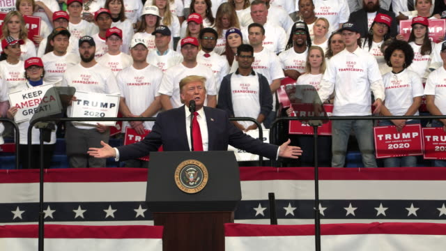 president trump campaigns for kentucky republicans november 4 2019 but the media and the democrats have launched an even more brazen assault on our... - partito repubblicano degli usa video stock e b–roll