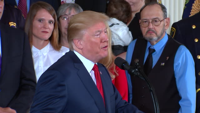 president trump opioid epidemic remarks. commenting on how drug use is a worldwide problem and how the united states if going to confront the problem. - rx stock videos & royalty-free footage