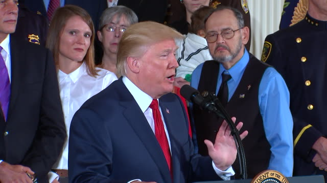 president trump opioid epidemic remarks. commenting on how the united states is aggressively fighting opioid epidemic on all fronts. - rx stock videos & royalty-free footage